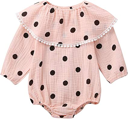USA Newborn Baby Girl 100/% Cotton Solid Romper Bodysuit Jumpsuit Outfits Clothes