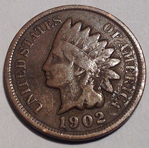 1902 Indian Head Cent Penny Very Good Details (1902 Indian Head Penny compare prices)