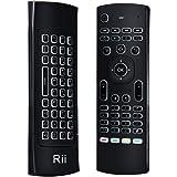 Rii MX3-M LED Retroiluminada 3 en 1: Ratón aéreo inalámbrico 2.4GHz, Teclado QWERTY incorporado con Mando Control remoto de Televisión. Especial para Mini Android PCTV, Voyo Windows mini PC, Reproductores Android, MaxOne, MXQ, MXIII, PS3/4, etc