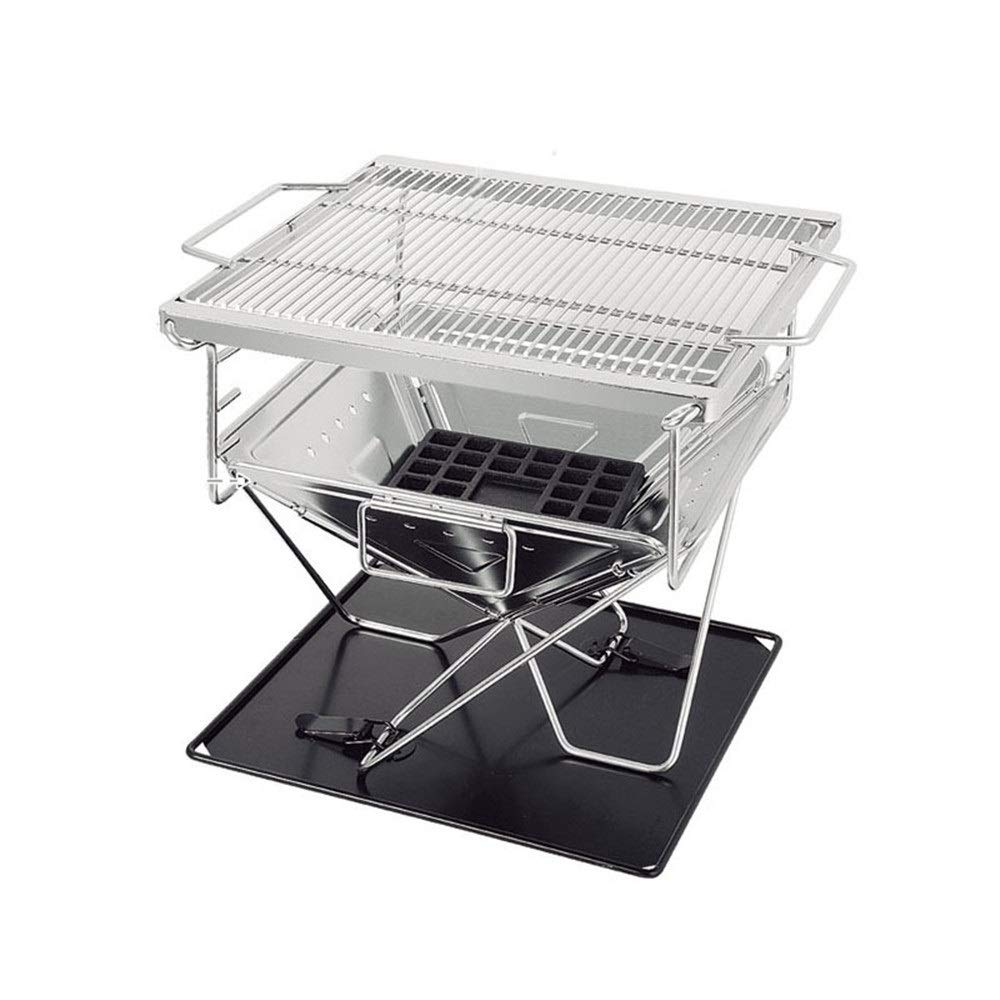 TangFeii Medium 304 Stainless Steel Folding Grill Outdoor Folding Oven Outdoor Stove Brazier Korean Oven Grill