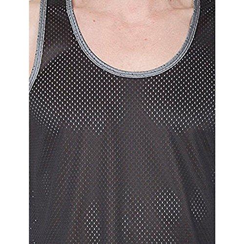 Apparel Pull Moderne Noir Femme Sans argenté Manche American 6qwxUSd6