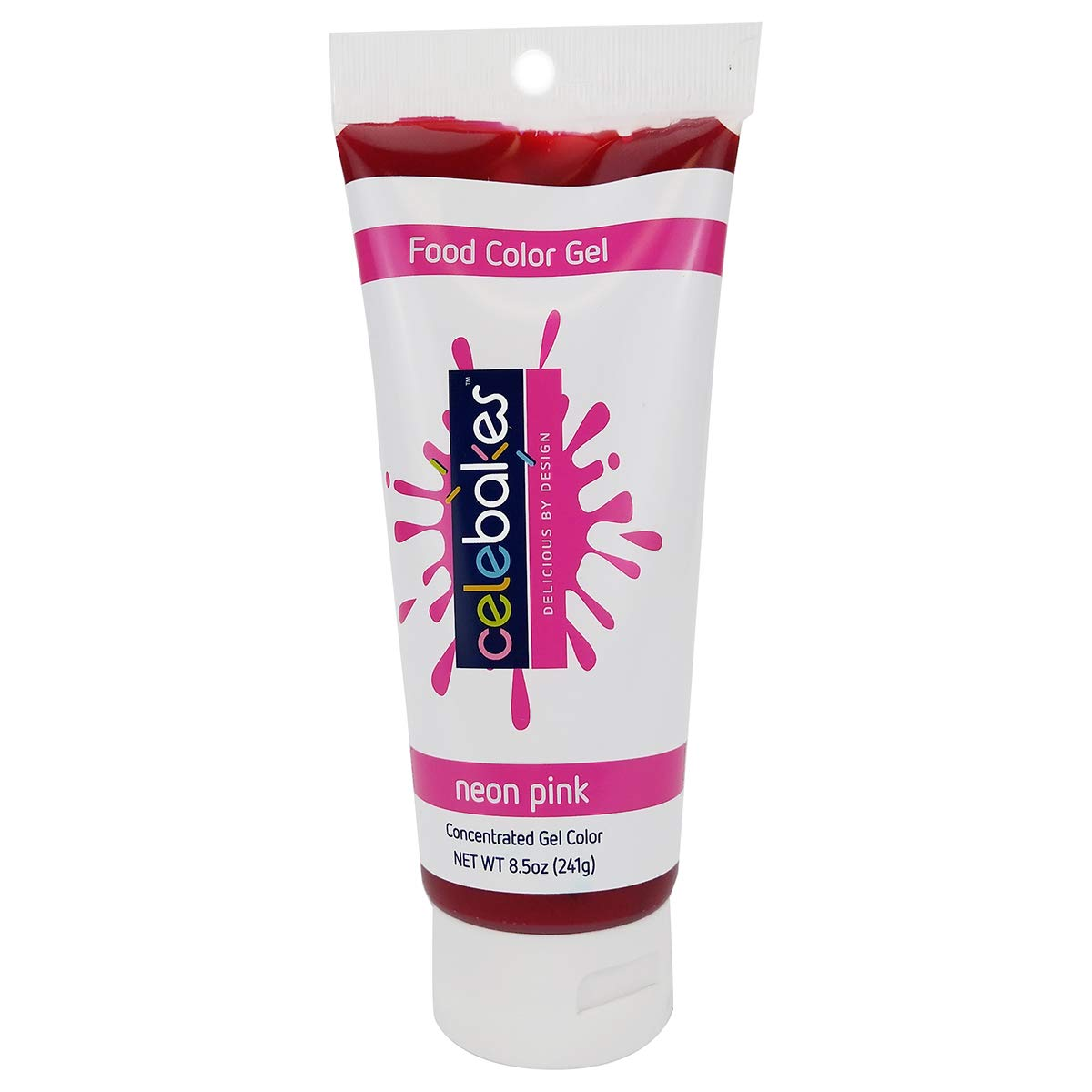Celebakes by CK Products Neon Pink Food Color Gel, 8.5 oz Tube