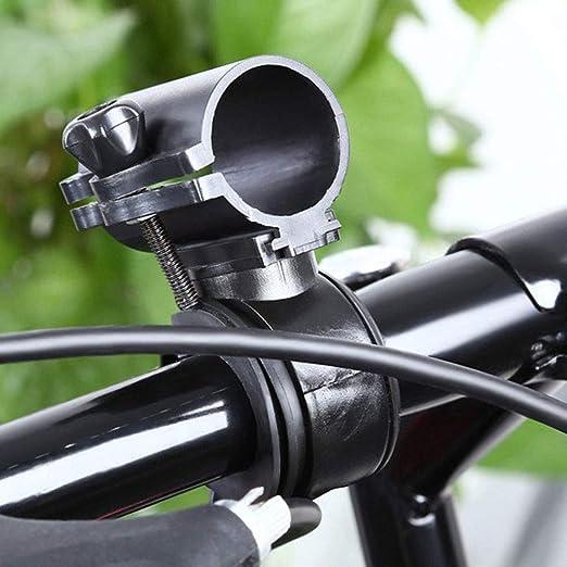 ENticerowts Soporte para Linterna de Bicicleta Ajustable con rotación de 360 Grados para Bicicleta con Soporte de Soporte de Soporte de fácil instalación: Amazon.es: Hogar
