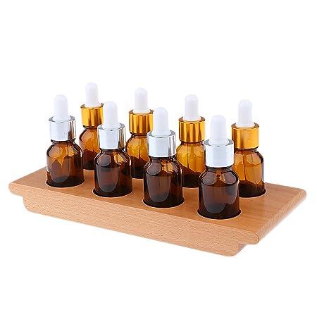 Sharplace Montessori Material Juego para Degustación Ejercicio con Bandeja 8 Botellas Gotero Sensorial Juguete Educativo para Niño de Alta Calidad Bueno ...