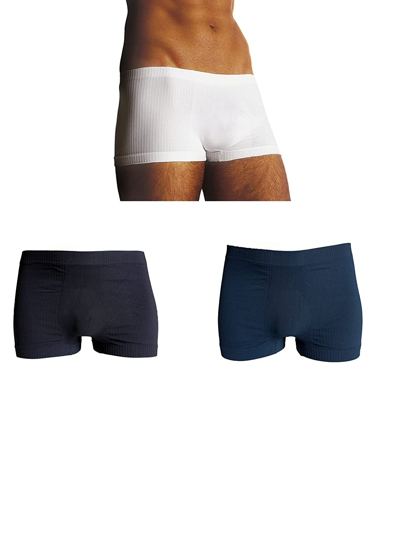 SENSI Tres B/óxers Ajustados Hombre Sin Costuras Seamless Made in Italy