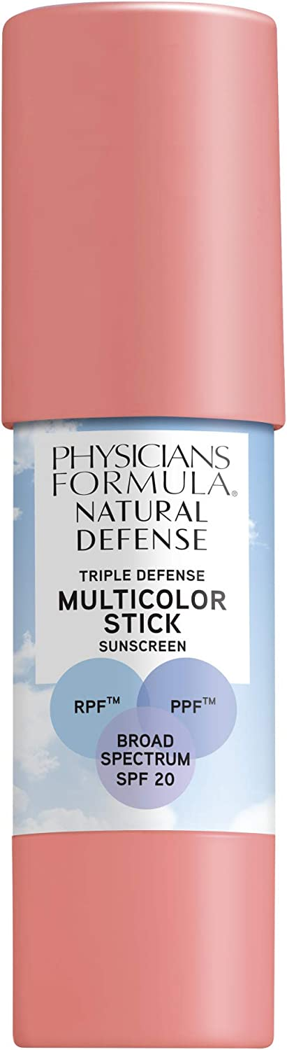 Physicians Formula Natural Defense Triple Defense Multicolor Stick with SPF 20, Soft Pink, 0.26 Ounce