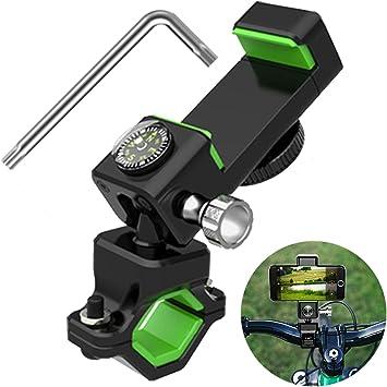 Soporte Movil Bicicleta con Rotación de 360°, Soporte Teléfono Móvil para Bicicleta, Soporte Movil Bici, Anti Vibración Porta Telefono Motocicleta para Teléfonos de 4-6,5