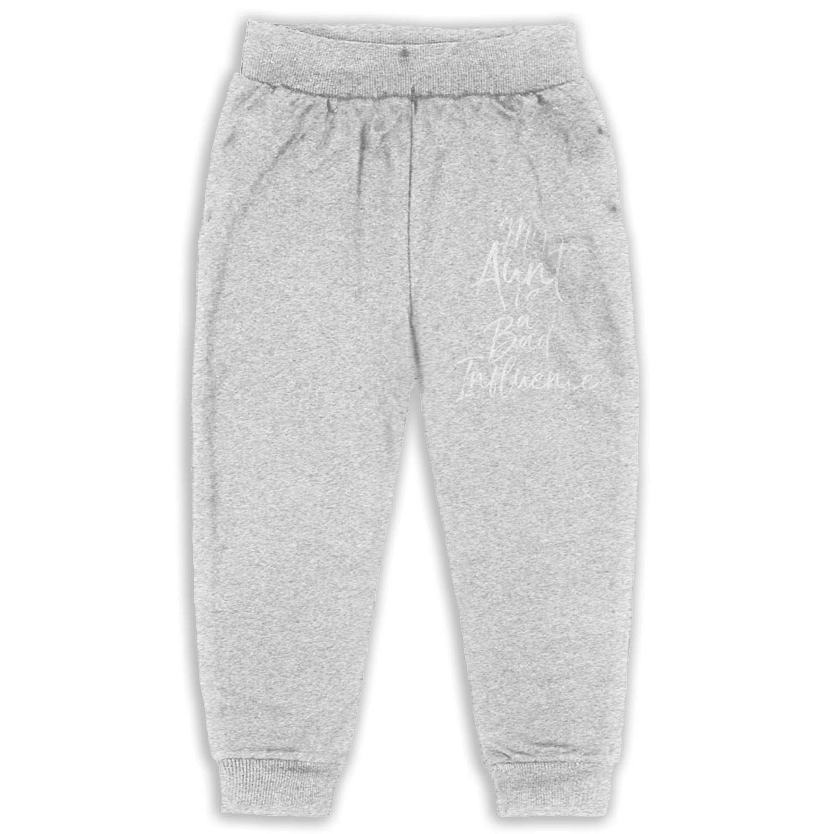 Cqelng Oii My Aunt is A Bad Influence 2-6T Boys Active Joggers Soft Pant
