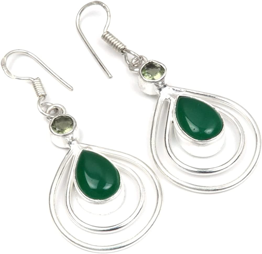 GREEN ONYX/ GEMSTONE EARRING