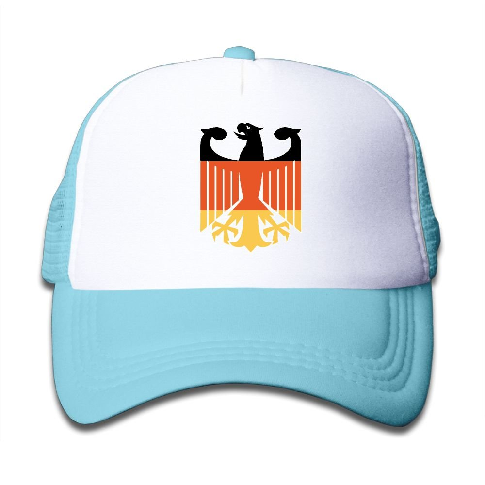 WLF Boys&Girls Germany Coat Of Arms Eagle Kids Adjustable Mesh Hat Trucker Cap