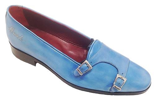 Garofalo Gianbattista - Mocasines de Piel para Hombre Azul Azul Claro: Amazon.es: Zapatos y complementos