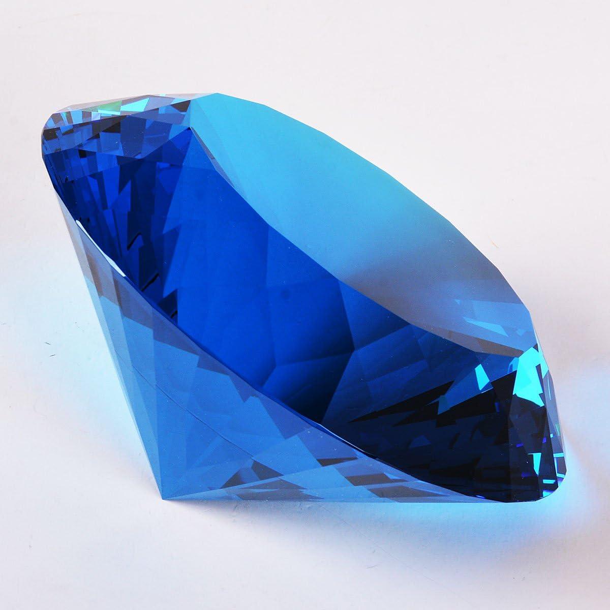 Couleur unie D/écoration pour la maison Longwin Presse-papier 120 mm en Cristal Design Diamant Plusieurs Facettes