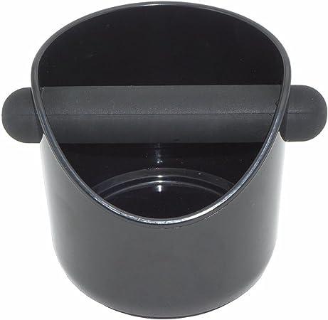 ABS Espresso Knock Box Plastique rigide Caf/é Knock Box avec anneau en silicone Bas/-/Noir Model A