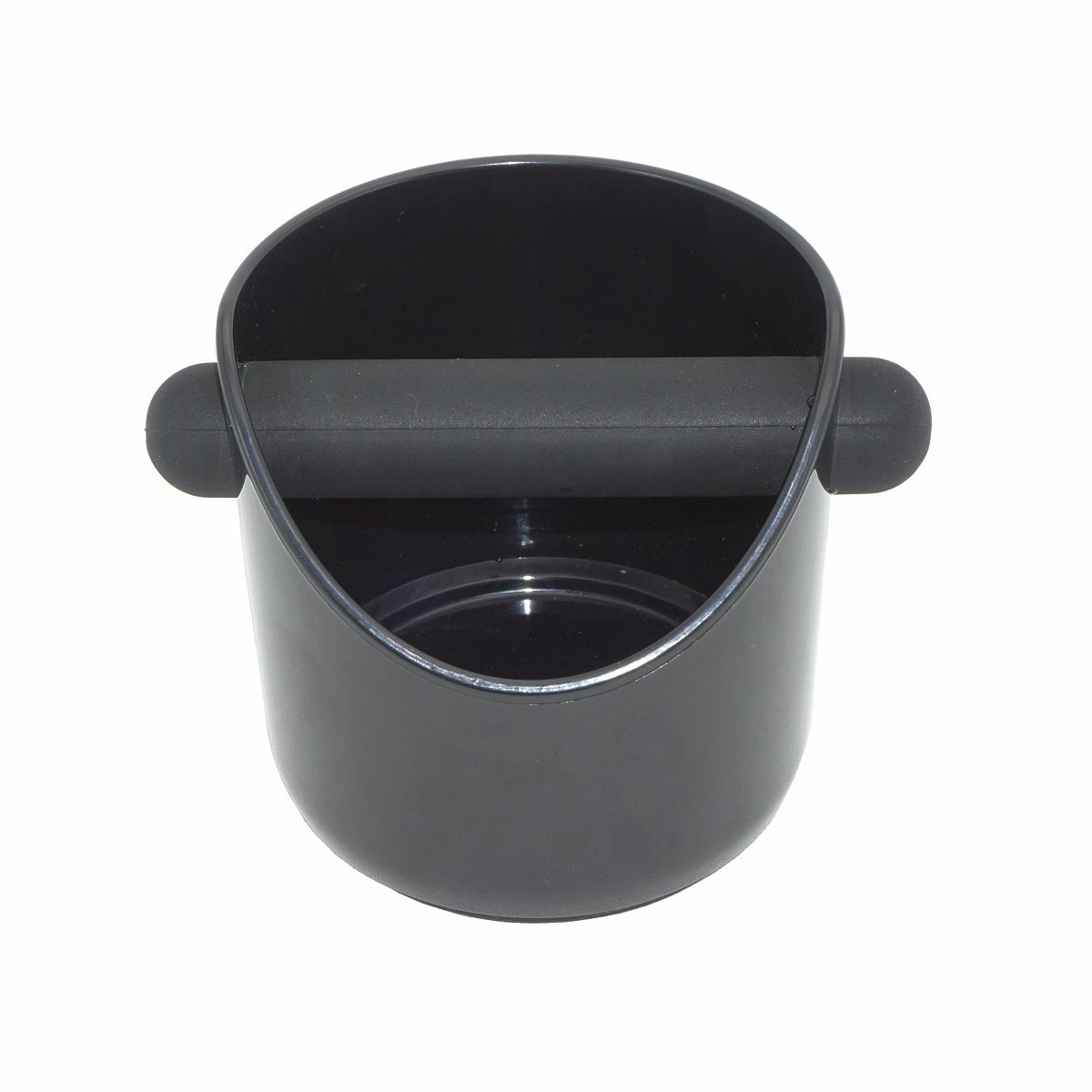 ABS Espresso Knock Box Hard Plastic Coffee Knock Box with Silicone Ring Bottom - Black (Model A)