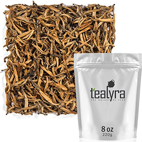 Tealyra - Imperial Golden Monkey - Yunnan Black Loose Leaf Tea - Best Chinese Tea - Organically Grown - Bold Caffeine - 220g (8-ounce) by Tealyra