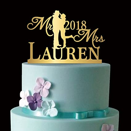 Amazon Kiskistonite Wedding Cake Toppers Couple Cowboy Mr Mrs