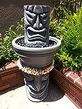 Angry Tiki Fountain W/Happy Tiki Base (Granite Grey)