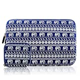 Kamor 13 13.3 14 inch Canvas Fabric Laptop Sleeve Case Bag Skin Cover /Notebook Computer Case/Briefcase Carrying Bag for Acer/Asus/Dell/Fujitsu/Lenovo/HP/Samsung/Sony/Toshiba(Bohemian Elephant Blue)