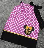 Minnie Mouse Inspired Polka Dot Pillowcase Dress Toddler Girls Infant