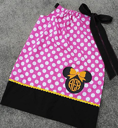 Minnie Mouse Inspired Polka Dot Pillowcase Dress Toddler Girls Infant by Polka Dots and Ruffles