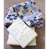7pcs Printed Patchwork Quilt and Sheets Set