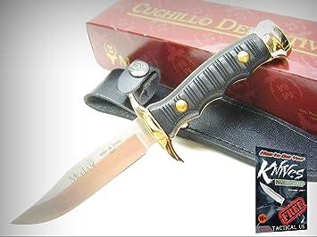 Amazon.com: MUELA Cuchillo fijo recto de latón negro para ...