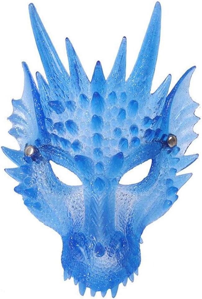 Cosplay Costume Blu Taglia Unica Unisex per Halloween e Le Feste da Adulto WingFly Maschera di Drago Accessori Festivi