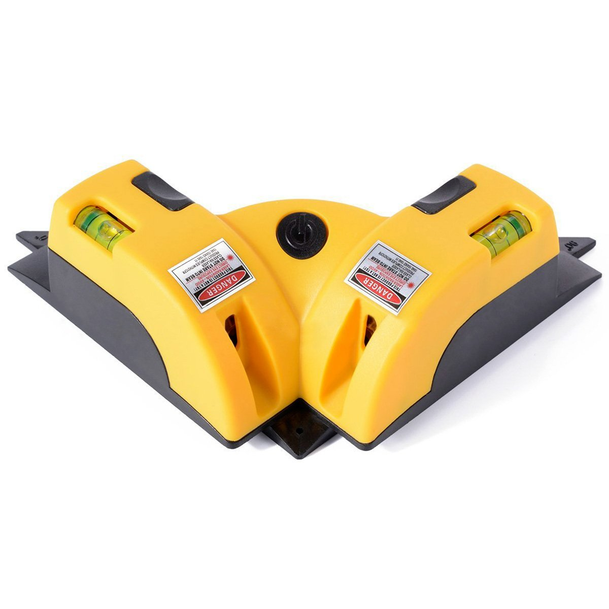 QWORK Right Angle 90 Degree Horizontal & Vertical Laser Level Line Projection Square Level Laser with Two Suction Cups