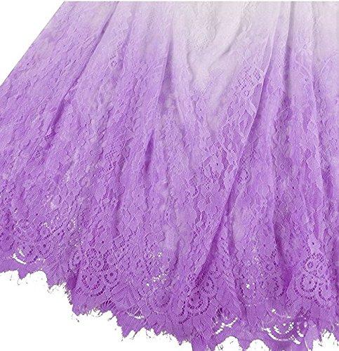 Nilover - Vestido - para mujer Dip Dyeing Purple 2