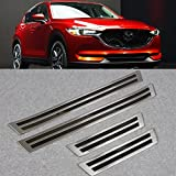Generic Fit For Mazda 2017 2018 New CX-5 CX5 Stainless Steel Door Sill Scuff Plate Guard Cover Trim