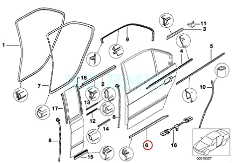 Amazon Com Bmw Genuine Rear Left Sealing Betw Door And Entrance