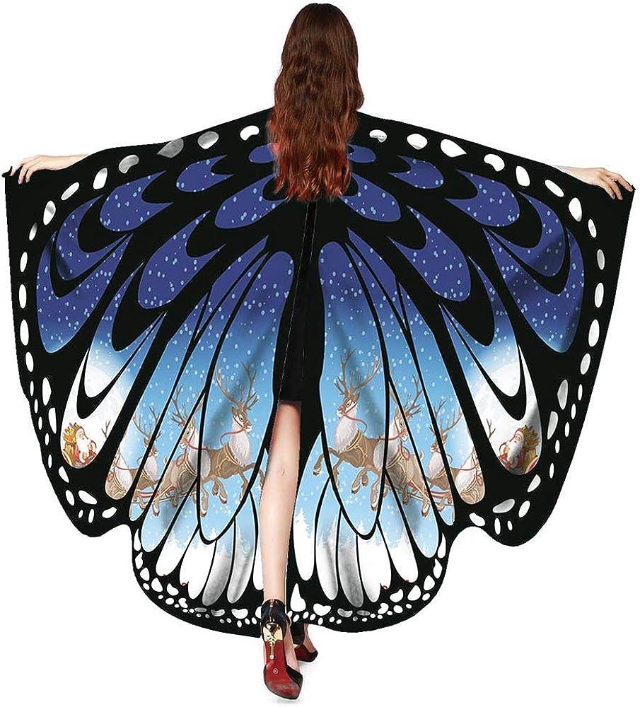 carol 168*135 1 Damen Schmetterling Kost/üm Faschingkost/üme Schmetterling Schal Fl/ügel Schal Tuch Schmetterlingsfl/ügel Erwachsene Poncho Umhang f/ür Party Weihnachten Kost/üm Cosplay Karneval Fasching