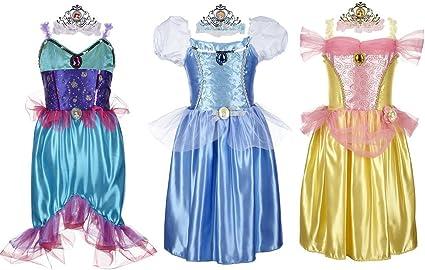 Amazon Com Disney Princess Deluxe Dress Up Set Ariel Cinderella