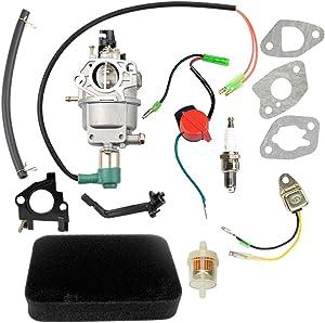 Hipa GP5500 Carburetor for Generac GP5000 GP5500 GP6500 GP6500E 5KW 5.5KW 6.5KW 389cc Generator 0G8442A111 Carb with Air Filter Tune Up Kit