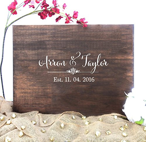 guest book wood - 1