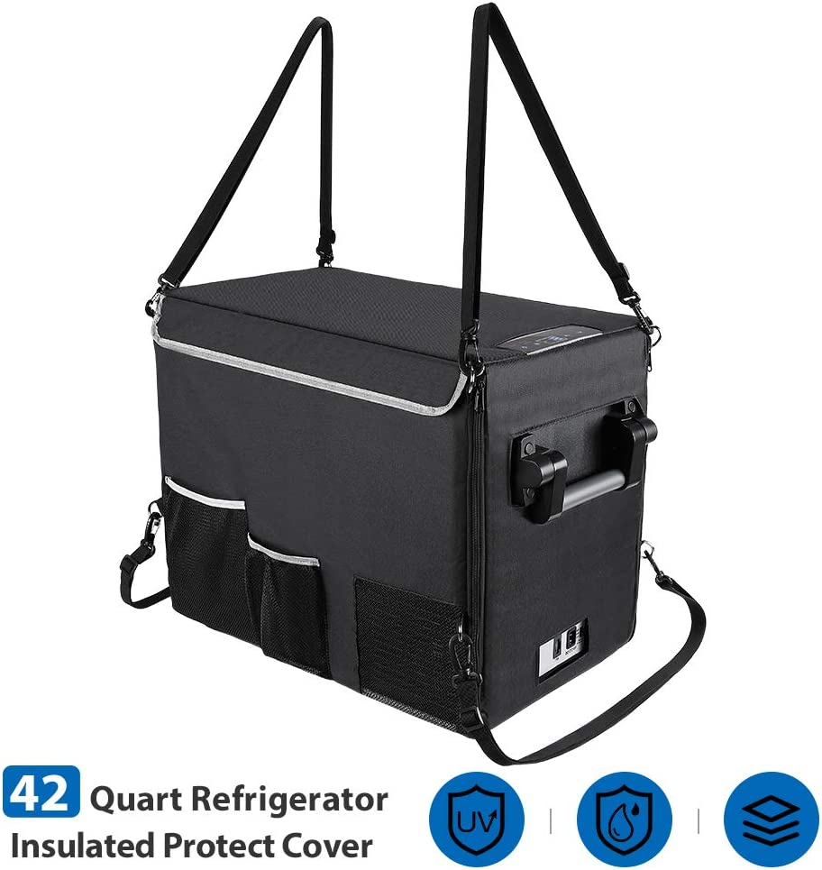JoyTutus Insulated Protective Cover for 42 Quart Portable Refridgerator Fridge Freezer