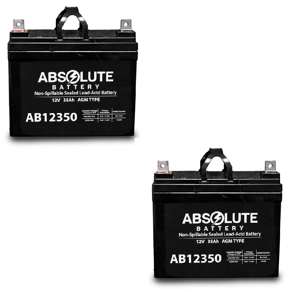 2 Pack AB12350 12V 35AH Battery Electric Mobility Little Rascal Cycle by Absolute Battery
