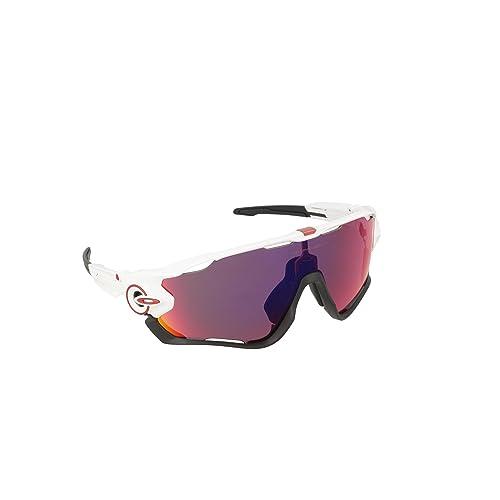 Oakley Sonnenbrille Jawbreaker, Gafas de Sol para Hombre, Blanco, 1