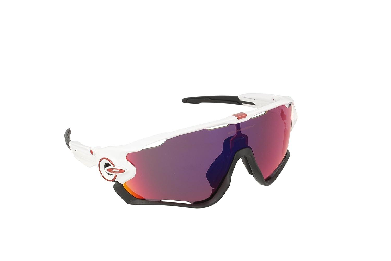 Oakley Sonnenbrille Jawbreaker, Gafas de Sol para Hombre, Blanco 1