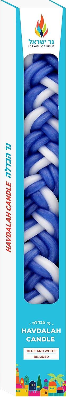 The Dreidel Company Havdalah Candle Handcrafted Havdala Candle Blue /& White, 12-Pack