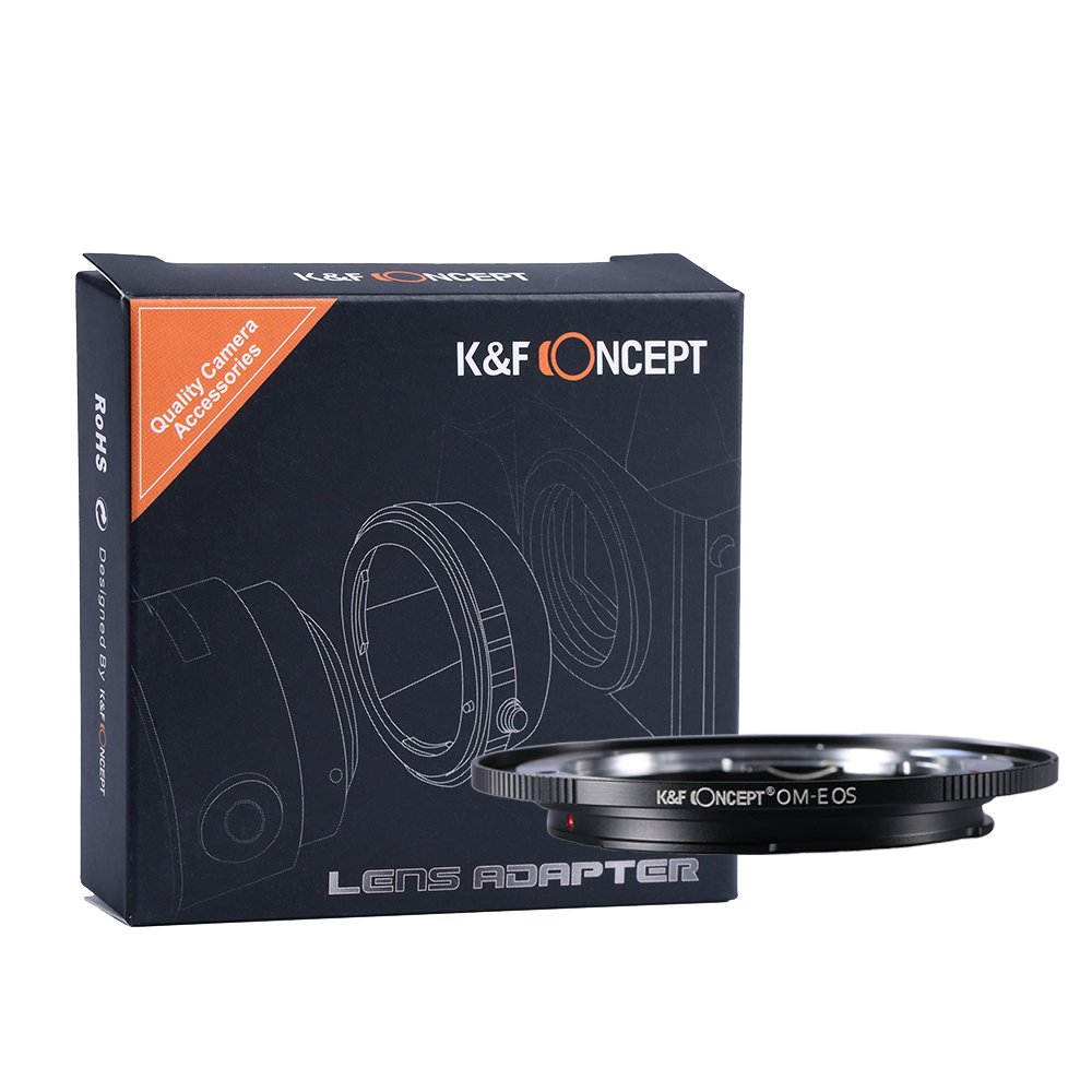 K&F Concept Lens Mount Adapter, Olympus OM Lens to Canon EOS EF Camera for Canon EOS 1D, 1DS, Mark II, III, IV, 5D, Mark II, 7D, 40D, 50D, 60D, 70D, Digital Rebel T2i, T3, T3i, T4i, T5i, SL1