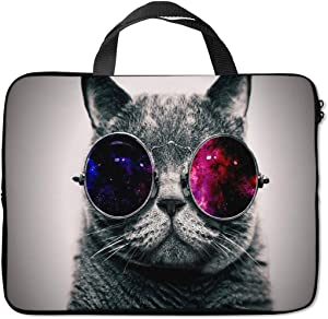 Britimes Laptop Sleeve Case Protection Bag Waterproof Neoprene PC Cover Water Resistant Notebook Handle Carrying Computer Protector Cute Cat Bag Case 11 12 13 inches