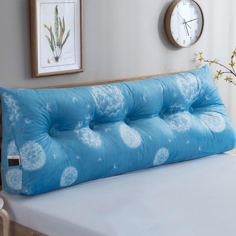 QU HUAI DONG SS Cuscino da comodino, morbido cuscino per testiera del cuscino, doppio cuscino schienale, 7 colori, 7 taglie cuscino (Colore : 1#, dimensioni : 60×50×22cm)