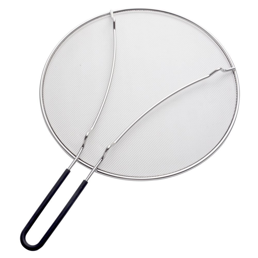AWZSDF 33cm Grease Splatter Screen for Frying Pan, Extra Fine Mesh Stops 99% of Splatter - Heavy Duty Grease Guard - Stainless Steel by AWZSDF