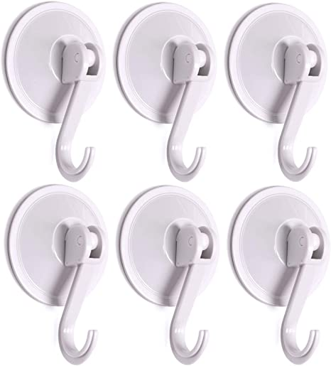 3pcs Towel Holder Suckers Round Plastic Durable Adhesive Wall Mounted Towel Hook