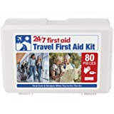 24/7 First Aid 80 Piece Travel First Aid Kit, White
