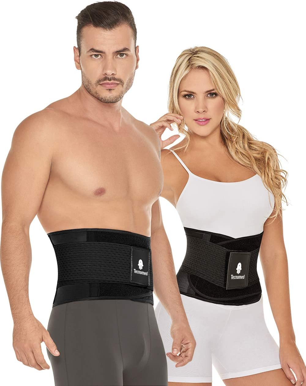 Tecnomed Back Brace Immediate Relief for Back Pain, Herniated Disc, Sciatica, Scoliosis and More Breathable Mesh Design with Lumbar Pad Adjustable Support Straps Lower Back Belt