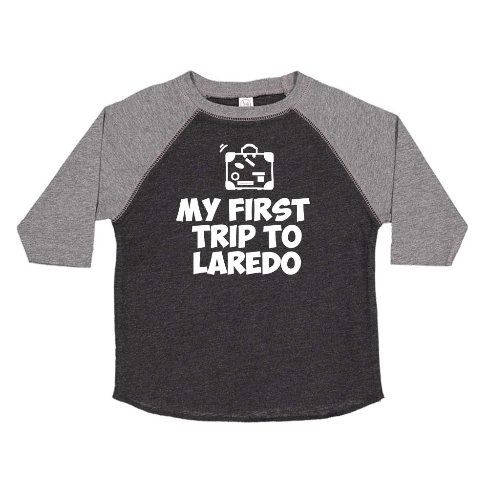 Toddler//Kids Raglan T-Shirt My First Trip to Laredo