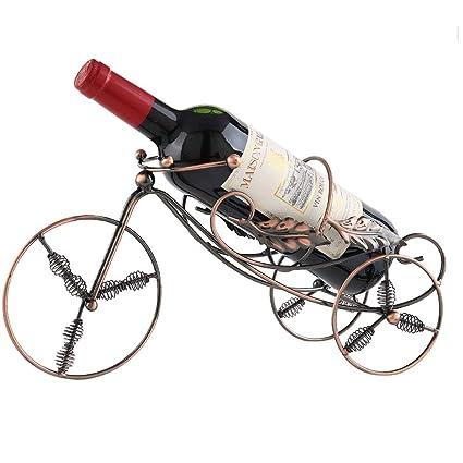 LCTCJJ Estante para vinos/Portavasos/Estantes/Almacenamiento 1 Botella - Diseño de Metal