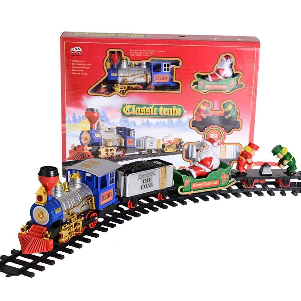 tren juguete control remoto humo eléctrico control remoto tren ferroviario santa claus electrico tren educativos para niños